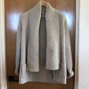 Jcrew wool open cardigan